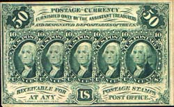 Fractional Currency first issue, ten cents 10 , George Washington