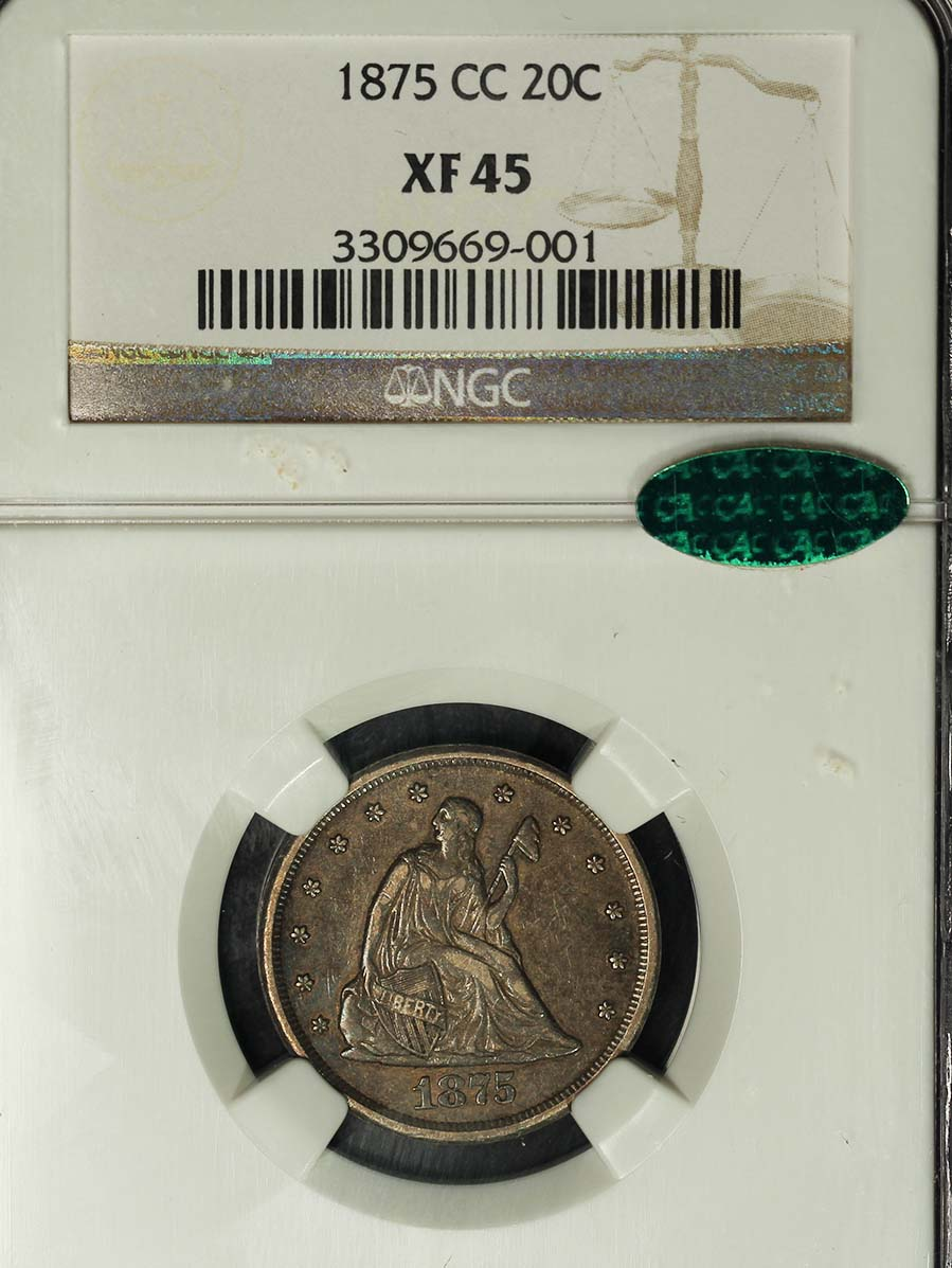 Liberty Seated 1875 cc