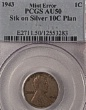 Lincoln 1943 Stk on Silver dime