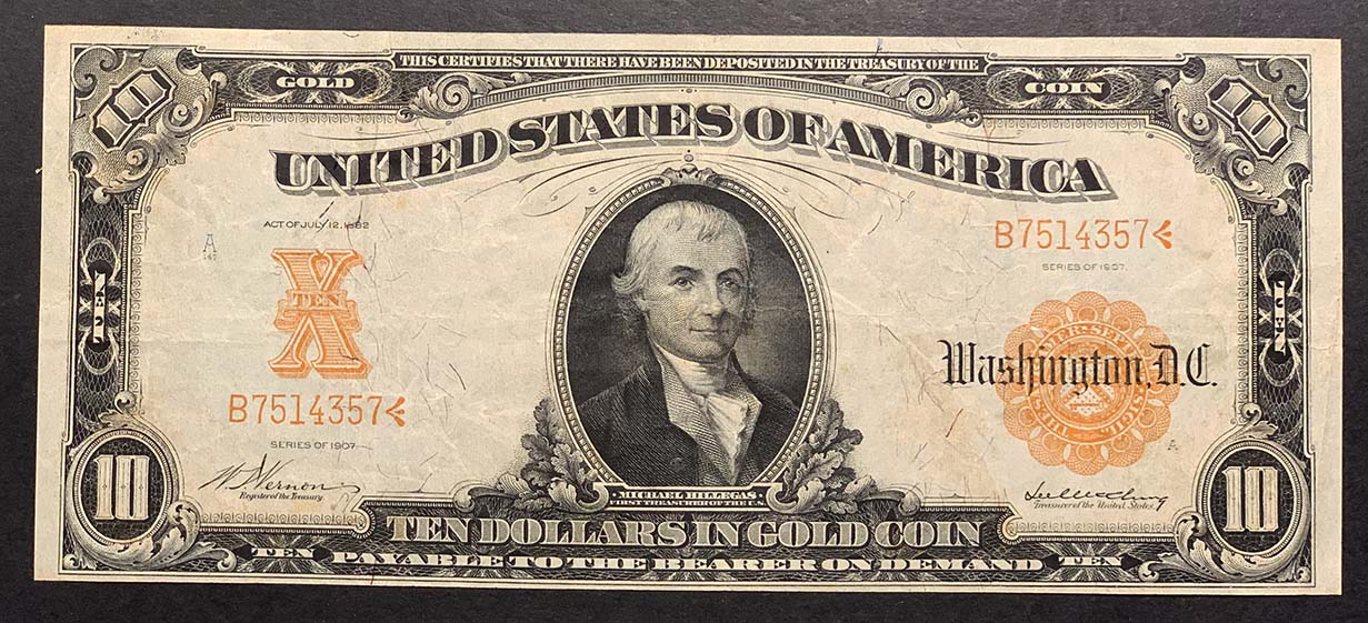 Gold Certificates - Currency for sale on Collectors Corner