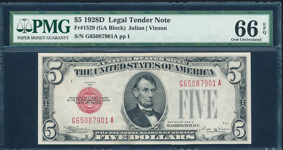 Legal Tender Notes - Currency for sale on Collectors Corner