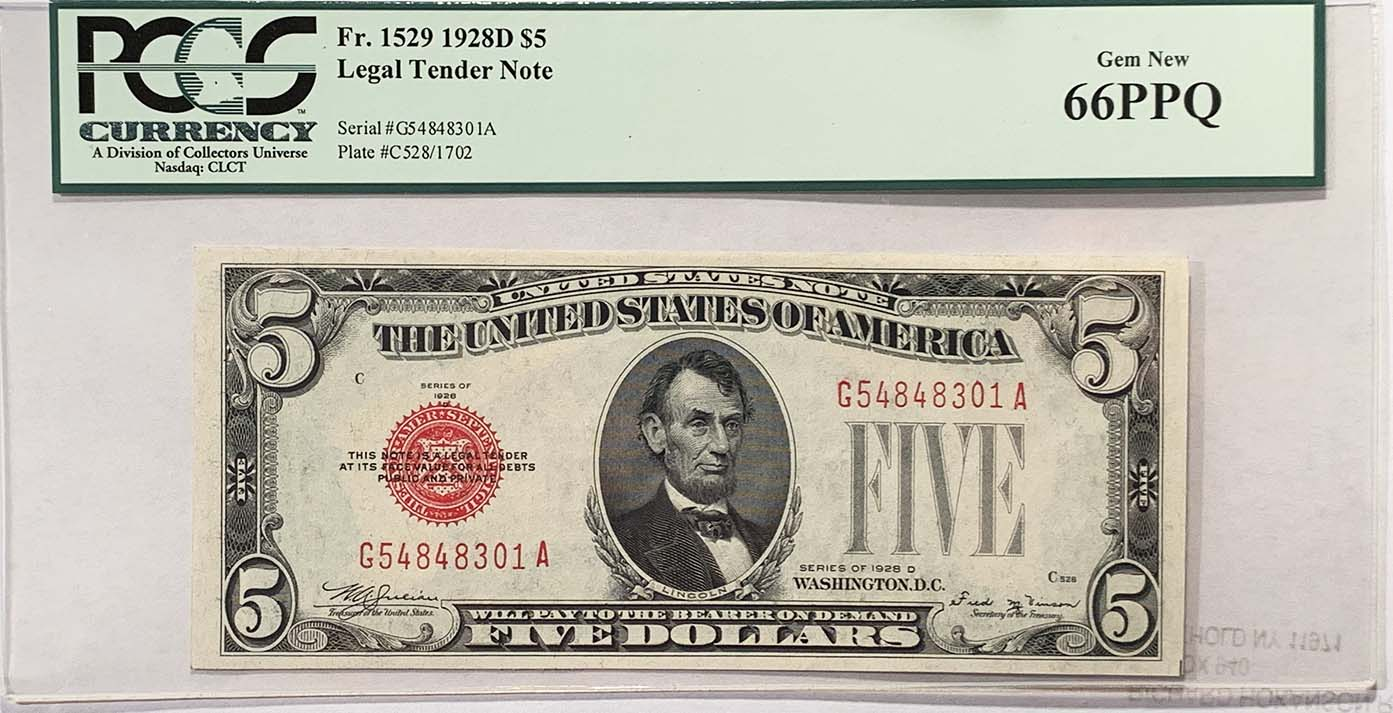 Legal Tender Notes Currency For Sale On Collectors Corner